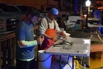 Day 1 pier 4 bait rigging 2